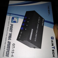 Port VGA Switch GT-15-4 Gaintech atau VGA Splitter 1-4