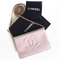 Tas Chanel Woc Caviar Pink Ghw #9 Dia