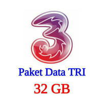 Harga paket voucher kuota 3 tri three 32gb 2gb all 30 gb 4g telp 30 mnt all | antitipu.com