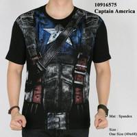 Jual Kaos Premium Spandex Superhero Captain America SH526 Murah