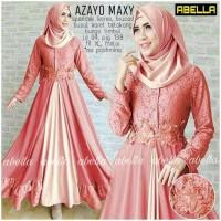 Baju Gamis Pesta Zoya Peach dan Mint Maxi dress Diskon