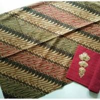 Jual kain batik solo parang keris pelangi tanpa embos dan bros Murah