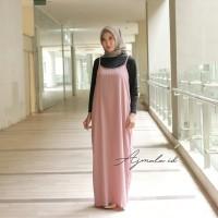 Long dress overall dress baju gamis modern, gamis tunik, blouse tunik