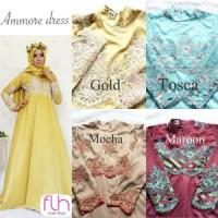 ammore dress full furing ori flh  kebaya wisuda murah modis