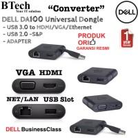 DELL DA100 Universal Dongle - USB3.0 to HDMI/VGA/Ethernet/USB 2.0 -S