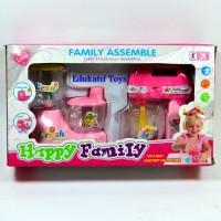 Mainan Family Assemble Happy Family, Mainan Mixer dan Blender