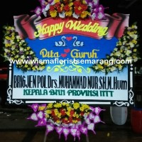 karangan bunga papan happy wedding bunga papan semarang