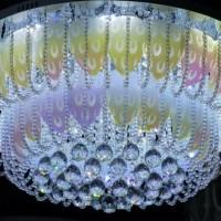 lampu hias plafon super terang led diameter 80cm + remote
