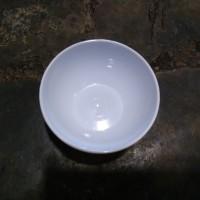 Mangkok Nasi Bundar Plastik Putih Ukuran Sedang