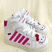 Sepatu Fashion Anak Sneaker Boots Hello Kitty Bobozai Cewek Sekolah