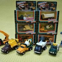 CONSTRUCTION TRUCK DIE-CAST METAL SET (6 PCS) - RARE COLLECTION ITEMS