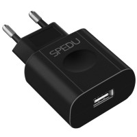 Speedu Charger USB EU Plug 1 Port 2A - X10 - Black