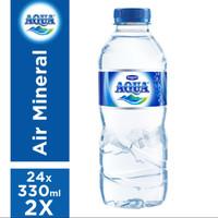 Aqua 330ml(pengiriman pake gojek)