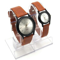 Jam tangan couple, Alba kulit, simple/elegant, kw super