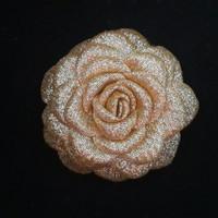 Jual Bros Mawar Gardenia Glitter / Aplikasi Bunga / Souvenir Pernikahan Murah
