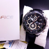 Jam Tangan Pria Casio Edifice Type EF-539 Leather Black Original