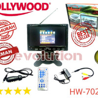 TV Mobil HollyWood HW 7028 A USB Monitor LCD 7 inch Button TouchScreen