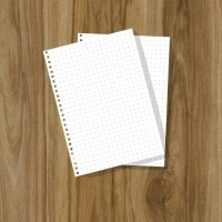 Loose Leaf A5 Dotted - kertas Binder - isi notes - 50 Lbr