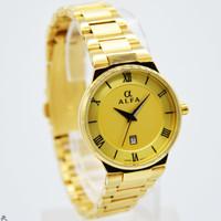 Jam Tangan Wanita Original Alfa 88083 Gold
