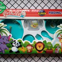 Jual FEEDING SET PERLENGKAPAN MAKAN BAYI RELIABLE BABY FS5001 PP BPA FREE Murah