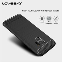 Lovebay Carbon Fiber Soft Case Samsung Galaxy S6 S7 S8 S9 Edge Plus