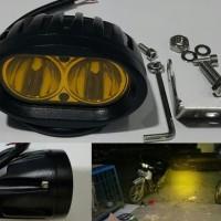 Jual Led Sorot 20W Kuning | Lampu Offroad Mobil Motor Unik