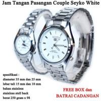 jam tangan Seyko Stainless Couple White