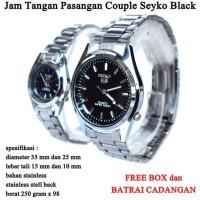jam tangan Seyko Stainless Couple Black