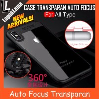 Turun Harga Case Auto Focus Transparan iPhone 5 6 6 Plus 7 7 Plus X S