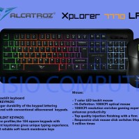 Keyboard Mouse Gaming XPLORER 7770LFX Backlight 9 Color By Alcatroz