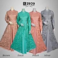 Gamis maxi dress baju gaun pesta busana muslim Brokat Vania 972