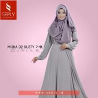 Gamis Plus Jilbab Satu Set Ukuran XL dan XXL SEPLY Misha-02