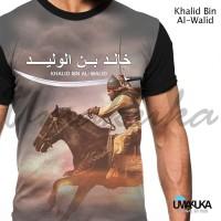 Harga umakuka kaos baju 3d khalid bin al walid muslim   antitipu.com