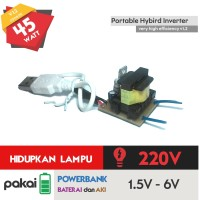 Jual Inverter Mini 3v DC to 220v AC ( Powerbank, Solar Cell ) Joule Thief Murah