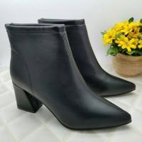 ankle boots kulit sepatu import wanita sepatu boots kulit
