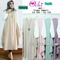 baju muslim wanita Ochi Tunik,baju muslim lengan panjang,baju