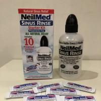 Botol Neilmed sinus + 10 sachet sinus rinse ( cuci hidung sinusitis )