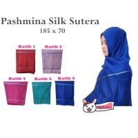 [PROMO] Hijab Jilbab Pashmina Silk Sutra Motif Batik Import Syal/Scarf