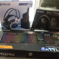 A4Tech X7 XL747H, Keyboard Rexus K9RGB & HX1 Rexus Headset Gaming