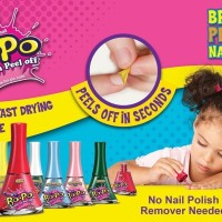 Bo-Po Nail Polish Kutek Anak Child Safe - Tea Party (Scented)