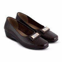 jual sepatu kulit wanita pantofel wedges JMS 0220