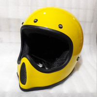 Helm Cakil Replika Moto4 Trail Full Face Cross Kuning Yellow