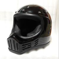 Helm Cakil Replika M30 Trail Full Face Cross Hitam Black