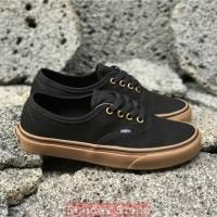 Sepatu Vans Authentic Black Gum Ring Gold PREMIUM DT BNIB TAG CHINA