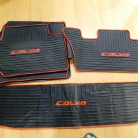 Karpet Karet - Car Carpet Black Lining Mobil Calya IMPORT PRODUCT