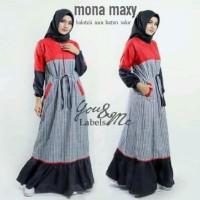Terbaru Mona maxi Termurah gamis balotelli/Muslim Wanita/Baju
