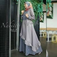 Nabilla dress by gagil /gamis balotelli/Muslim Wanita/Baju Murah/gamis