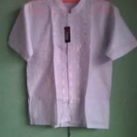 Jual Baju Muslim atasan koko Anak 9 - 10 Tahun Warna Putih Murah