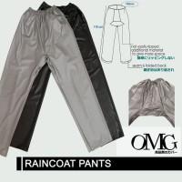 Celana Jas Hujan Karet OMG WaterProof Raincoat Pants Anti Air PVC OKE