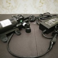 Paket Pompa Air DC 12 V High pressure+Adaptor+Neple +konektor adaptor